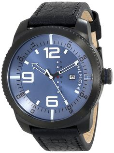 Tommy Hilfiger Men's 1791016 Analog Display Quartz Black Watch >>> Check this awesome watch by going to the link at the image. Cool Watches, Watches For Men, Tommy Hilfiger Watches, Amazon Website, Amazon Associates, Sport Man, Smart Watch, Quartz, Swimming