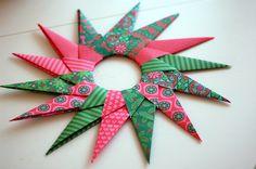 DIY origami paper star