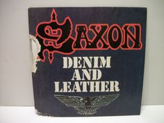 Vintage Saxon- Denim and Leather- Heavy Metal/ Hard Rock Vinyl LP- 1981 Carrere Records by TimsTimelessToys on Etsy