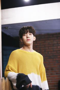 K Pop, Day6 Dowoon, Kim Wonpil, Bob The Builder, Young K, Pink Sweater, South Korean Boy Band, Cool Bands, Yellow
