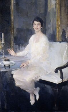 A work by New York painter Cecilia Beaux (she lived in 19th Street, just yards away from Gramercy Park): Ernesta, 1914.