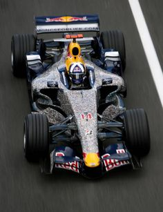 David Coulthard in the Red Bull RS27 at Silverstone Northamptonshire