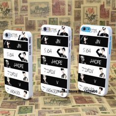 BTS Bangtan Boys Jeon Design hard White Skin Cover Back Case for iPhone 4 5 6 - Animetee - 1 Bts Bangtan Boy, Bts Boys, Kpop Phone Cases, Korean Design, Silicone Iphone Cases, Kpop Merch, Mobile Cases, I Love Bts, K Pop