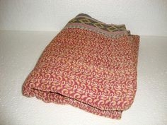 Kantha Quilt Reversible Handmade Bedding 100 by Antiquecollections, $29.90