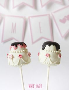 Cutest Tiered Wedding Cake Pops