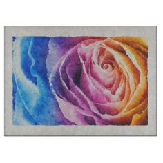 Watercolor Rainbow Rose Cutting Boards  Watercolor Rainbow Rose Cutting Boards      $44.40   by  Tannaidhe  http://www.zazzle.com/watercolor_rainbow_rose_cutting_boards-256191157878295239