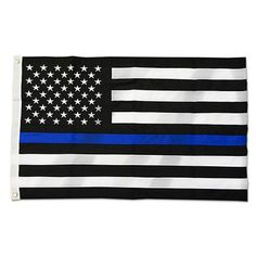 2x Distressed Thin Blue Line Kentucky State Shaped Subdued US Flag Sticker