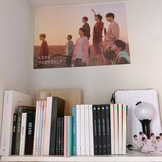 So that is my bts album shrine though you cant see all