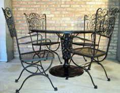 woodard table and 4 chairs offered on ebay starting at vintage patio lovewrought iron