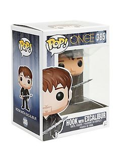 """Hook from ABC's <i>Once Upon A Time</i> is given a fun, and funky, stylized look as an adorable collectible vinyl figure - with Excalibur in hand!<br><ul><li style=""""LIST-STYLE-POSITION: outside !important; LIST-STYLE-TYPE: disc !important"""">Pop! Once Upon A Time 385</li><li style=""""LIST-STYLE-POSITION: outside !important; LIST-STYLE-TYPE: disc !important"""">3 3/4"""" tall</li><li style=""""LIST-STYLE-POSITION: outside !important; LIST-STYLE-TYPE: disc !important"""">Vinyl</li><li…"""