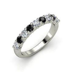 The Nine Gem Band #customizable #jewelry #diamond #blackdiamond #gold #ring #wedding