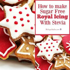 How to Make Sugar Free Royal Icing with Stevia recipe Decorating your cookies and other sweet treats is a lot easier when you use this How to Make Sugar Free Royal Icing with Stevia Sugar Free Peanut Butter Cookies, Sugar Free Carrot Cake, Sugar Free Chocolate Cake, Sugar Free Brownies, Sugar Free Jello, Sugar Free Baking, Sugar Free Desserts, Sugar Free Recipes, Low Carb Desserts