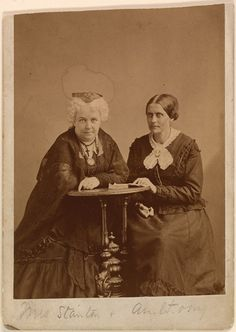 Elizabeth Cady Stanton and Susan B. Anthony (c. 1870) by Napoleon Sarony. Image courtesy of the National Portrait Gallery.