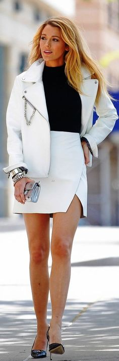 blake lively white suit