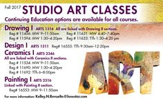Take Studio Art Classes int he Fall 2017 at #LSCKingwood! Register today!