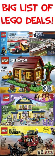 BIG List of LEGO Deals!! {stash away some fun gifts!} #legos