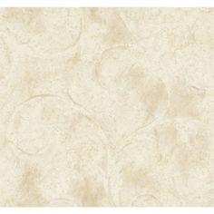 York Wallcovering Aged Elegance Athena Scroll Wallpaper LG342-  #homedecor #home #forthehome #decor #design #wallpaper #decorate #inspiration #homeinspiration