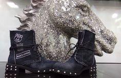 Prechodné jeansové topánky