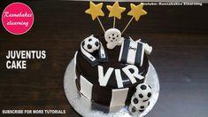 juventus football soccer ronaldo theme kids birthday cake design ideas d. Cartoon Birthday Cake, Friends Birthday Cake, Animal Birthday Cakes, Frozen Birthday Cake, Cute Birthday Cakes, Soccer Birthday, Happy Birthday, Cake Decorating For Beginners, Cake Decorating Designs