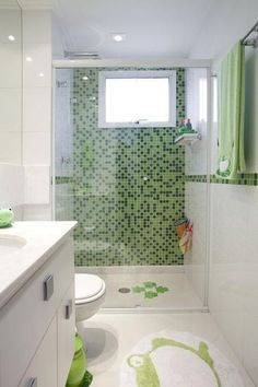If you have a small bathroom in your home, don't be confuse to change to make it look larger. Not only small bathroom, but also the largest bathrooms have their problems and design flaws. Tiny House Bathroom, Bathroom Design Small, Bathroom Layout, Bathroom Colors, Modern Bathroom, Colorful Bathroom, Bathroom Ideas, Washroom, Serene Bathroom