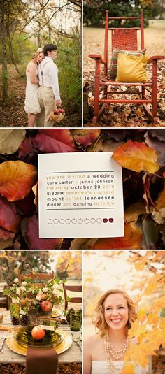 Fall Wedding Inspiration by Love Bird Style | Style Me Pretty
