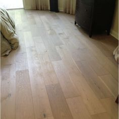 Wide Plank Engineered Smooth Imperia White Oak Hardwood Flooring  I know flooring isn't in the plan. But if it ever does in the long down the road future. I think this would be stunning!!