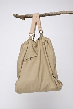canvas bag with metal rings