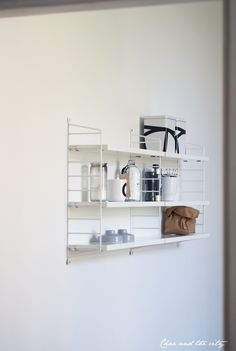 String Pocket -shelf in the kitchen:  http://divaaniblogit.fi/charandthecity/2014/05/20/string-pocket-hyllyt-keittiossa/