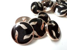 10  PCS Metal Gold Tone Loop Sew On Buttons with by Starbuttons, $3.00