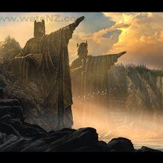 The Argonath: Pillars Of The Kings Art Print | Weta