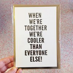 It was H's birthday yesterday and this card sums up a great group of friends that came around for dinner - always each other's cheerleaders!