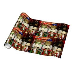 Three Wise Crackers - Nutcracker Soldiers Gift Wrap SHIPPING TO Louisville, KY