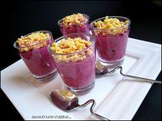 Mini-verrines apéritives thon-betterave - Quand Nad cuisine...