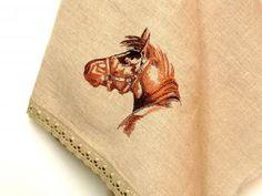 Pellavainen saunapyyhe, jossa hevosaiheinen kirjailu Guest Towels, Bath Towels, Large Baths, Unique Christmas Gifts, Handmade Home, Natural Linen, Home Textile, Linen Fabric, I Shop