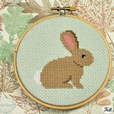 Bunny DIY Cross Stitch Kit [A's note: this lady's patterns are great!]