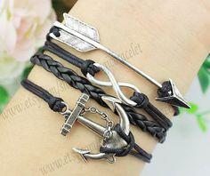 Arrows bracelet infinity and anchor bracelet by themagicbracelet, $4.99