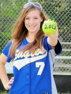 Softball Senior Picture, but without the sunglasses on your head!