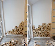 Plastry drewna na ścianie - jak to zrobić samodzielnie? Wooden Wall Design, Wooden Walls, Earthy Home Decor, Small House Decorating, Bathroom Trends, Wall Cladding, Recycled Wood, Diy Woodworking, Home Interior Design