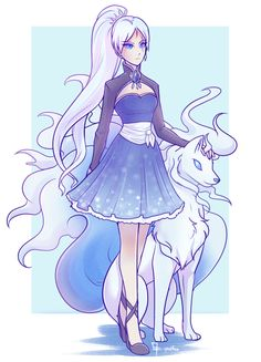 Weiss would own an ice Ninetails. It is canon now