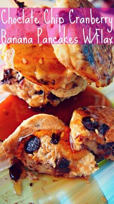 Undressed Skeleton — Chocolate Chip Cranberry Banana Pancakes W/Flax!