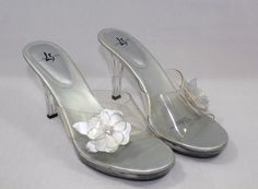 Womens Shoes Sexy Silver & Clear Sandal Size 8.5 M-Life Stride #LifeStride…