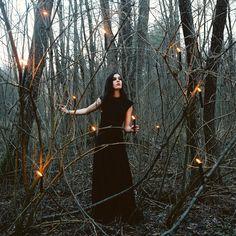 wild woods/dusk/candle light magick
