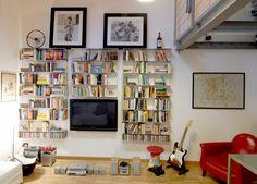 Téléchargez le catalogue et demandez les prix de Krossing By kriptonite, bibliothèque murale composable en aluminium