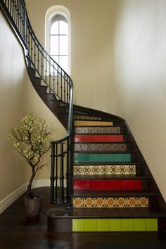 My Houzz: Andalusian-Styled Modern Family Home - eclectic - Staircase - San Francisco - Margot Hartford Photography