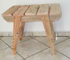 Handmade Wood Furniture, Wood Pallet Furniture, Furniture Projects, Rustic Furniture, Wood Pallets, Wood Projects, Woodworking Furniture Plans, Diy Woodworking, Pallet Stool