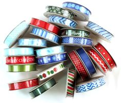 Today's Peachy Cheap deal is a 24 Spool Christmas Ribbon Pack from American Crafts.  75% OFF at www.peachycheap.com!
