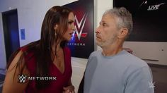 Welcome back Jon Stewart! We're glad to have you back at WWE SummerSlam on WWE Network.   But watch what you say around Stephanie McMahon - WWE...
