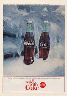 Coca- Cola Coke Features Glass Bottles (1964)