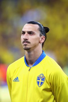 Zlatan Ibrahimovic Photos - Zlatan Ibrahimovic of Sweden stands during the…