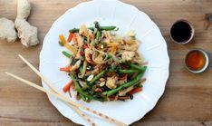 Spicy wok med risnudler – Et Liv I Balance